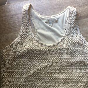 Crochet Cream LC Lauren Conrad Maxi